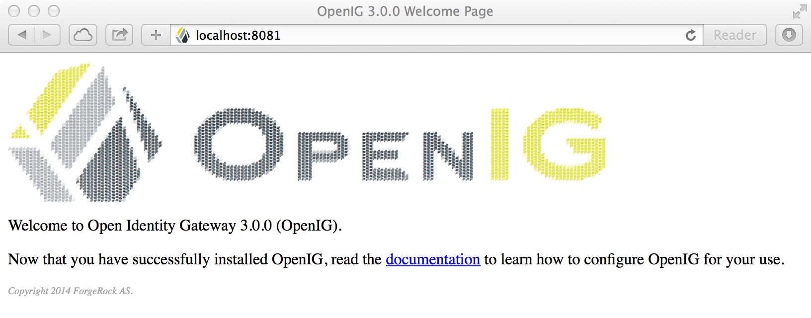 OpenIG 3.0.0 - Welcome Page